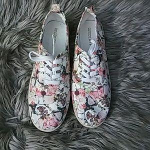 H&M divided floral print tennis shoes